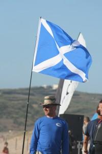 Neil Baxter-flies-the-flag
