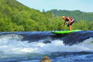 Running the ledge on the Hiwassee.  5000cfs