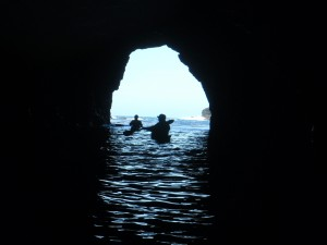 Kayaking in Mendocino Sea Caves