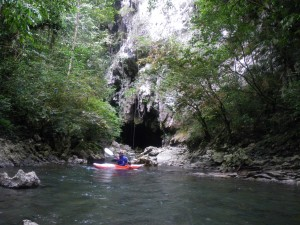 exiting the 1st cave