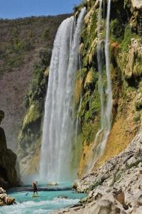 Some class 3 below 300 foot Tamul Falls!