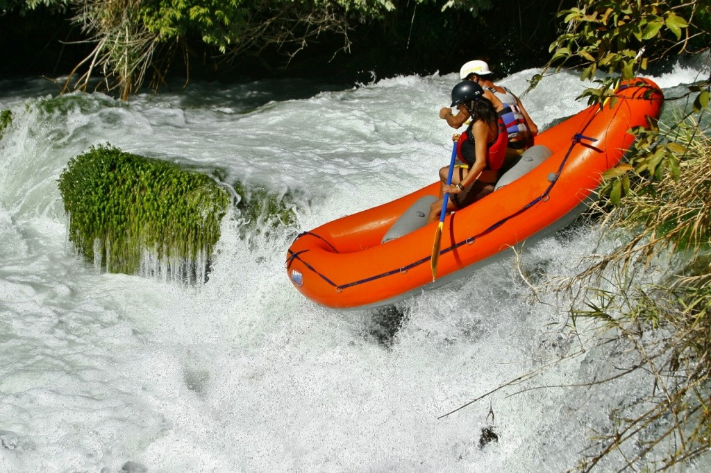 Banana rapid.  Rafting first D