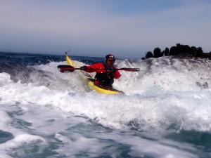 Dennis sea kayak rock gardening.