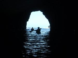Kayaking in Mendocino Sea Caves